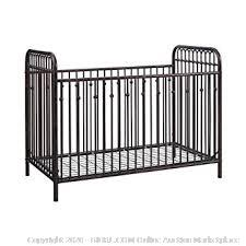 Little Seeds black metal crib