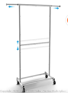 double rod garment rack Chrome