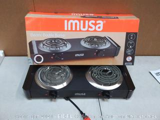 IMUSA GAU-80306 ELECTRIC Double Burner( powers on)