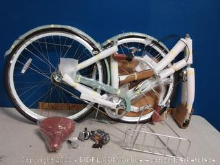pure City Dutch Style Crosby seafoam green and white bike (online $499)