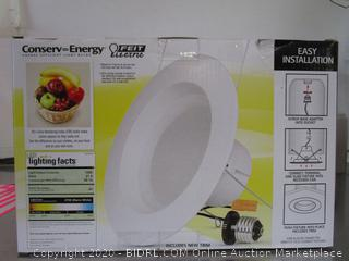 "Feit Conserv-Energy 1250 Lumens Dimmable 6"" Recessed Lights Retrofit Kit"