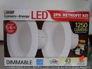 """Feit Conserv-Energy 1250 Lumens Dimmable 6"""" Recessed Lights Retrofit Kit"""
