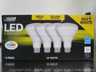 Feit Electric LED Dimmable Soft White Flood Light Bulbs BR30