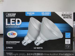 Feit LED Dimmable PAR38 Light Bulbs Bright White