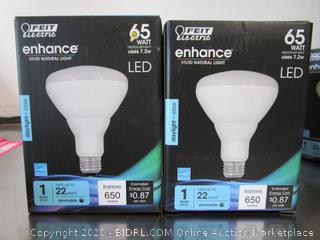 Feit Electric LED Dimmable Flood Light Bulbs BR30 650 Lumen