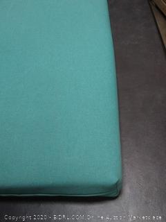 2 x 4 turquoise patio cushion
