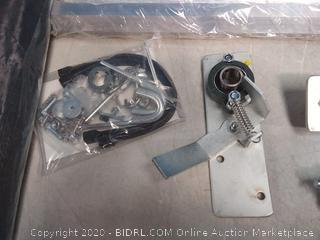 """Hand Crank 7'6"""" X 12' Tarp Roller Kit with Black Mesh Tarp for Dump Truck or Trailer (online $211) tarp not included"""