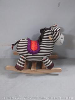 B. toys by Battat Kazoo Wooden Rocking Zebra (online $40)