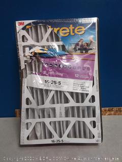 FILTRETE 16X25X5, AC Furnace Air Filter 3M (online $46)