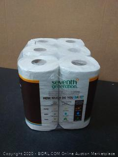 Seventh Generation Standard 2-Ply Toilet Paper, 12 Rolls