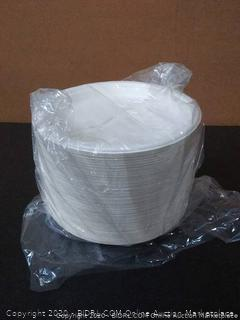 "Green Earth - Natural Bagasse (Sugarcane Fiber) Tree Free 9"" Paper Plate / Biodegradable / Compostable"