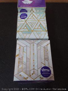 Kleenex Expressions Ultra Soft Facial Tissues, 3 Cube Boxes, 65 Tissues per Box