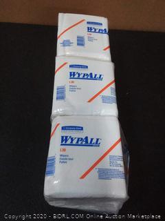 WypAll L30 Medium Duty Dry Wiper, 12-1/2 x 12 in, White, 3 pack