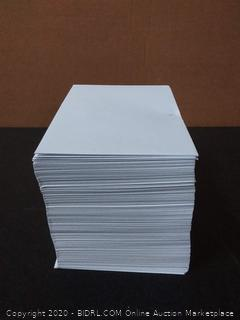 6 x 9 Booklet Envelope - 24# White Wove - Open Side- (6 x 9) - Jumbo Envelope Series 250 envelopes