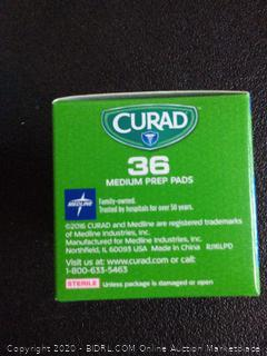 Curad Alcohol Prep Pad 36 Count 5boxes