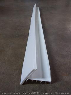 Frost King UDB77W Slide On Door Sweep & Draft Stop, White