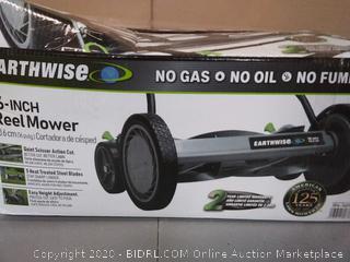 Earthwise 16-inch reel mower(slightly used)