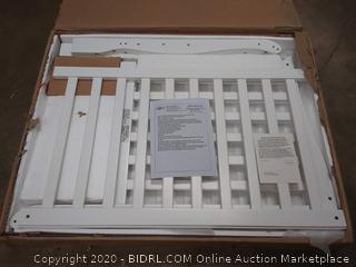 Dream On Me 4 in 1 Aden Convertible Mini Crib white (copy to Q4318)(on rack D4)