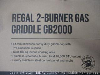 2 Burner Gas Griddle