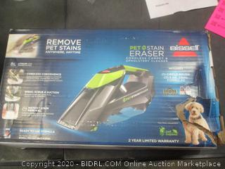 Bissell Pet Stain Eraser Cordless Carpet & Upholstery Cleaner