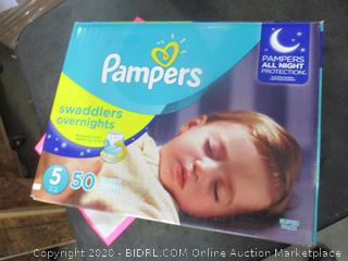 Pampers Swaddlers Overnights Size 5