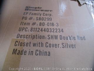 Double Rod Closet w/ Cover
