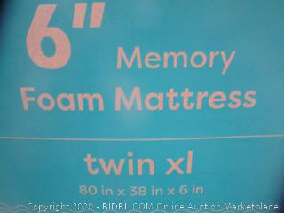 Memory Foam Mattress Size Twin XL