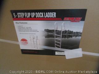 5 Step Flip Up Dock Ladder