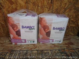 Bambo Nature Diapers Size 6 (2 Per Lot)