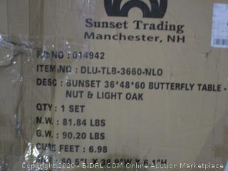 Sunset Butterfly Table