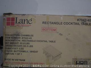 lane Rectangle Cocktail Table  new