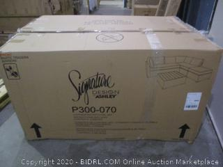 Signature Loveseat/Ottoman/Table Set  damaged see pictures