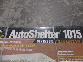 Auto Shelter 10X15  box condition may vary