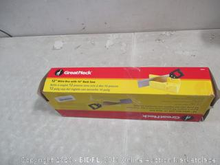 """Great neck 12"""" Mitre Box  with 14"""" Back Saw"""