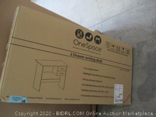 One Space 2 Drawer Writing Desk