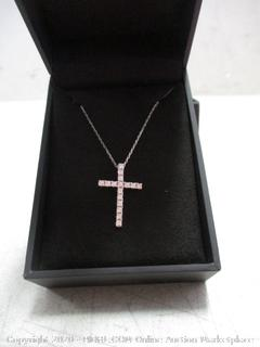 Cross Necklace Camaged Broken Clasp in Chain