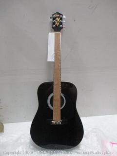 Black Dreadnought Guitar  See Pictures