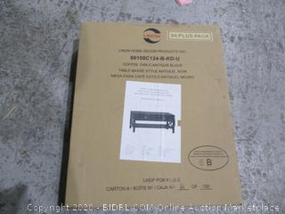 Linon Coffee Table  incomplete set box 1 of 2 only