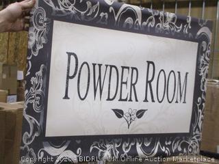 Powder Room/ some damage