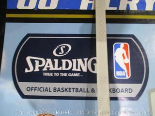 Spalding  Official Basketball & backboard