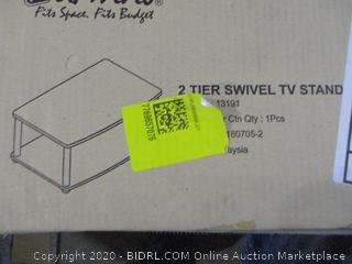 2-Tier Swivel TV Stand