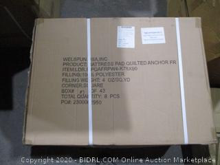 Box Lot Mattress Pad Quilted