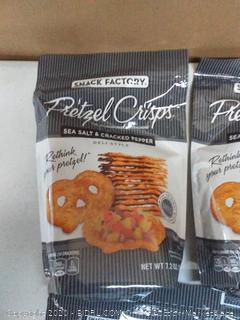 Snack Factory pretzel crisps sea salt and Cracked Pepper 4 bags