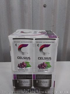 Celsius sparkling grape Rush zero sugar 12oz can 4 pack