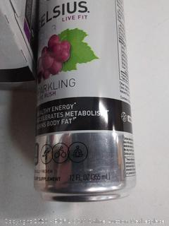 Celsius sparkling grape Rush zero sugar 12oz can 4 pack