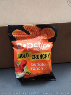 Popchips ridges variety pack 24  3 Flavors:Buffalo Ranch, Cheddar and Sour cream, Tangy BBQ