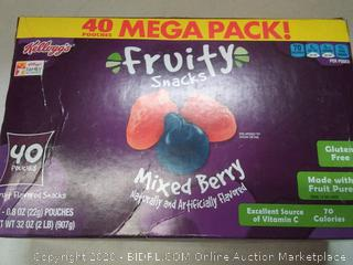 Kellogg's Fruity snacks mixed berry 40 pouches mega pack