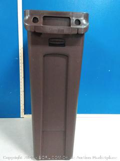 Rubbermaid Commercial Products 1956187 Slim Jim Trash/Garbage Can with Venting Channels, 23 Gallon (online $32)
