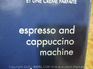 DeLonghi Espresso and Cappuccino Machine