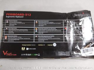 Perixx PERIBOARD-512 Wired Full-Size Ergonomic Natural Split Keyboard(online $37)